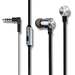 Mpow Wired Earphones, Premium 3.5mm Handsfree Earbuds with Mic, Dual Speakers, Stereo Headphones for iPod/iPad/Smartphones/Tablets/MP3/One Plus/Xiaomi