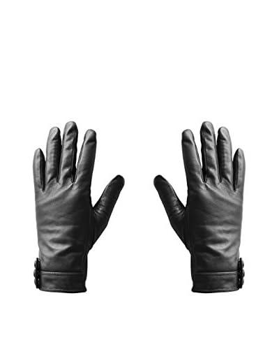 hi-Fun  Guantes Para Tablet Y Smartphone Hi-Glove Leather Wom Medium Negro