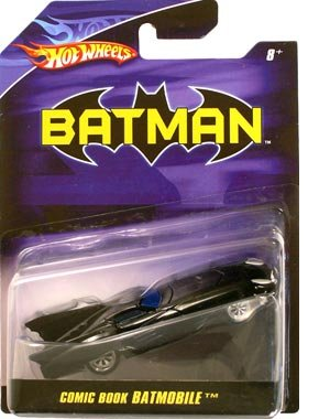 Hot Wheels Batman 1:50 Scale Comic Book Batmobile Diecast - 1