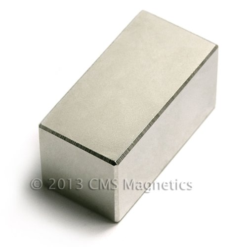 "Super Powerful Neodymium Magnet 2X1X1"" Cms Magneitcs® Rare Earth front-545207"