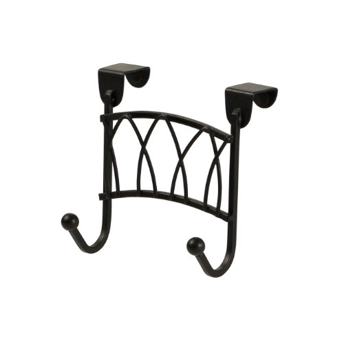 Spectrum Diversified Over the Cabinet Twist Double Hook, Black (Over The Door Double Hook Black compare prices)
