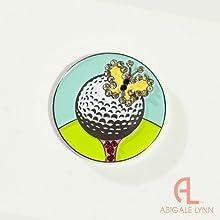 Abigale Lynn Crystal Golf Ball Marker - Butterfly