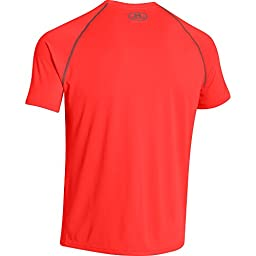 Under Armour Men\'s UA Tech Short Sleeve T-Shirt Large BOLT ORANGE