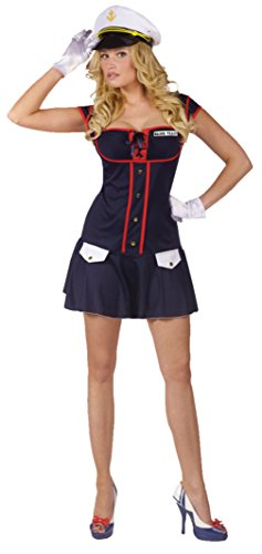Funworld Womens Uniforms Major Tease Sexy Navy Marines Military Fancy Costume