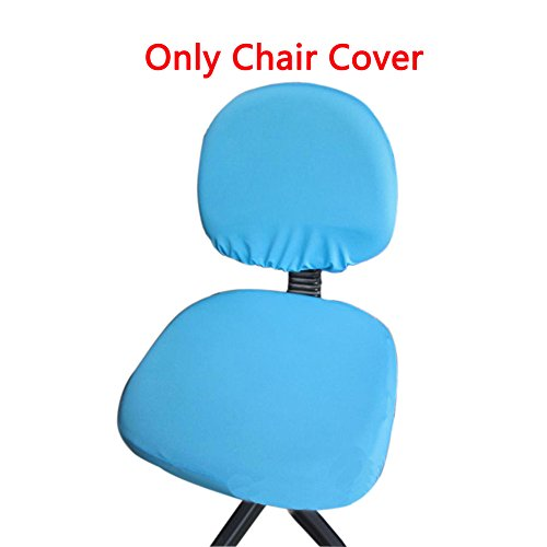 Loghot Chair Covers Spandex Universal Computer Office Desk Stretch Rotating Pure Color Chair Cover (Lake Blue)