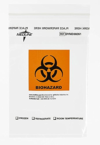 medline-dynd30261-zip-style-biohazard-specimen-bags-plastic-latex-free-9-length-6-width-clear-pack-o
