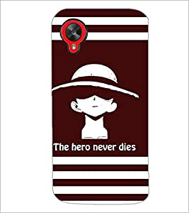 PrintDhaba Quote D-5853 Back Case Cover for LG GOOGLE NEXUS 5 (Multi-Coloured)