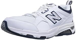 New Balance Men's MX857 Cross-Training Shoe,White/Navy,11 D US
