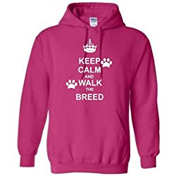 Keep Calm and Walk the Dog (Any Breed) Hoodie, Sizes S-XXL, Various colours