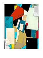 Contemporary Office Panel Decorativo Abstract - B Multicolor