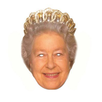 Partyrama The Queen Celebrity Cardboard Mask Single