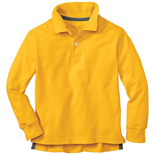 Hanna Andersson Little Boy Classic Polo Shirt In Organic Cotton, Size 90 (3T), Honeycomb front-951493