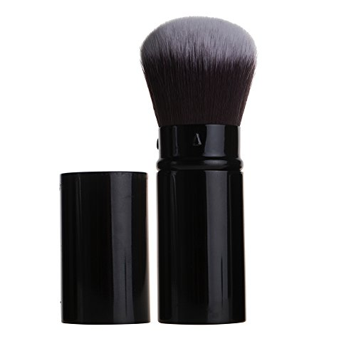 Retractable Kabuki Blush Brush Aguder Powder Brusher Makeup Cosmetic Brush Set Best for Concealer, Bronzer, and Contouring Liquid or Powder Blusher - Great for Professional, Home and Travel (Best Concealer Brush compare prices)