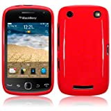 Blackberry Curve 9380 TPU Gel Skin Case / Cover - Solid Red PART OF THE QUBITS ACCESSORIES RANGEby TERRAPIN
