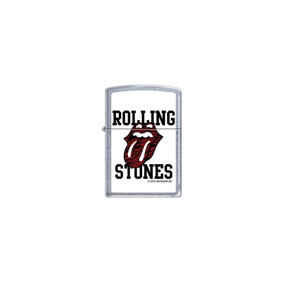 Zippo Rolling Stones Tongue Logo Street Chrome Lighter, 3658