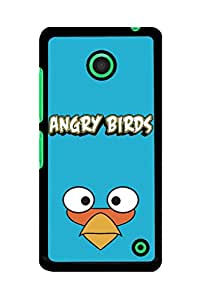 Caseque Angry Bird The Blues Back Shell Case Cover for Nokia Lumia 630
