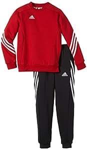 Adidas sereno 14 tuta junior con felpa girocollo rossa for Tuta adidas amazon