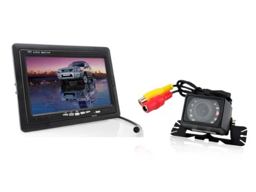 7 Inch Tft Lcd Digital Car Rear View Monitor With Waterproof Car Rear View Camera Combo Car Backup System