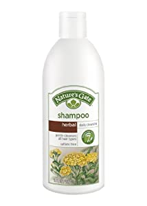 Nature's Gate Daily Cleansing Shampoo for All Hair Types, Herbal, (18 fl oz) (532 ml) (Pack of 3)