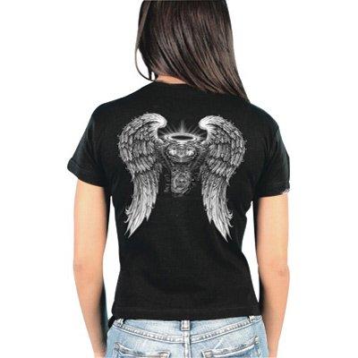 Hot Leathers Asphalt Angel Ladies T-Shirt Ladies X-Large Black