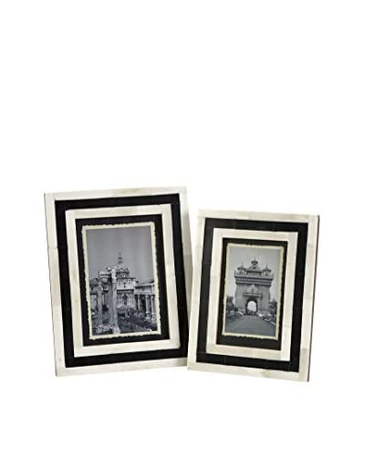Set of 2 Bella Bone Inlay Frames