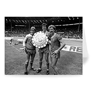 Kenny Dalglish Alan Hansen and Graeme Souness - Greeting Card (Pack of 2) - 7x5 inch - Art247 - Standard Size - Pack Of 2 from art247
