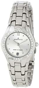 Anne Klein Women's 10-6927SVSV Swarovski Crystal Accented Silver-Tone Watch