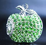 Crystal Apple USB Flash Drive with Necklace:8GB(Green)