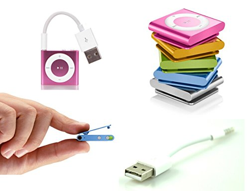 USB Charger Sync Data Cable for Apple Ipod Shuffle (Gemix) - 3rd - 4th - 5th - 6th Generation 10cm white usb 2 0 male to 3 5mm male data sync charger adapter connector for ipod shuffle 2nd 3rd