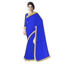 Aagaman Fashion Faux Georgette Saree ( TSSU13177C_Blue )