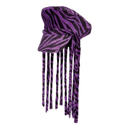 """Rasta-Mütze """"Lila Zebra"""" 35 cm"""