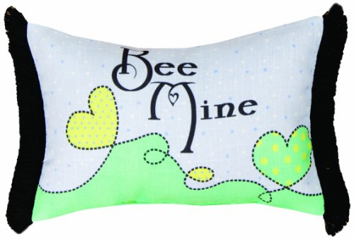 Manual Izzy Baby Collection Throw Pillow, 12.5 X 8.5-Inch, Bee Mine front-61053