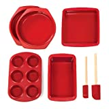 Silicone Solutions 7-Piece Bakers Set, Burgundy