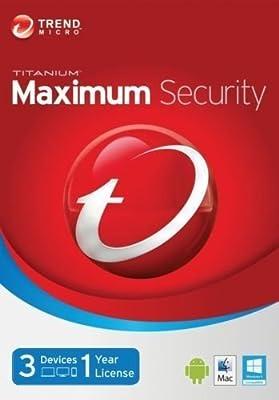 Trend Micro Titanium Maximum Security 10/2016 1year 3devices Digital Edition