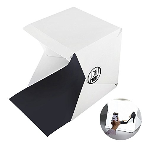 COWEEN Table Top Shooting Tent Portable LED Lights Folding Mini Photo Studio White Black Background (Led Tabletop Light compare prices)
