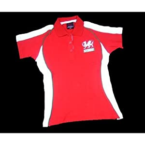 Wales Welsh 'Fashion-Fit' Ladies Rugby Shirt (16/18) by Welsh Superstore Rugby Shirts