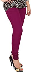 Red Chilli Women's Cotton Slim Fit Leggings (alg_030_rc, Free Size, Red Violet)