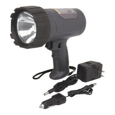 """Abc Products"" - 1 Million ~ Power Halogen - Hand Held - Rechargeable Spotlight (Charges With Both - Ac 120 Volt Electrical Outlet Adapter And Has A 12 Volt Car Battery Adapter)"