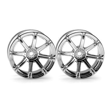 HPI Work Emotion XC8 Wheel 26mm Chrome (6mm Offset) - 1 Pair