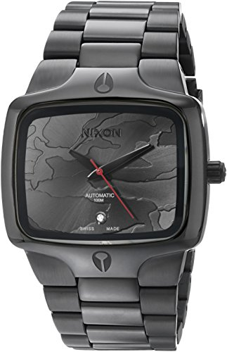 Nixon-Mens-Player-Swiss-Quartz-Metal-and-Stainless-Steel-Automatic-Watch-ColorGrey-Model-A3522396-00