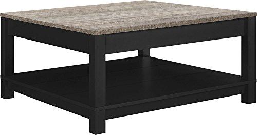 Altra Furniture Carver Coffee Table, Black/Sonoma Oak (Square Coffee Table Storage compare prices)