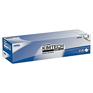 Kimwipes Delicate Task Kimtech Science Wipers (34743), White, 3-PLY, 15 Pop-Up Boxes / Case, 119 Sheets / Box, 1,785 Sheets / Case