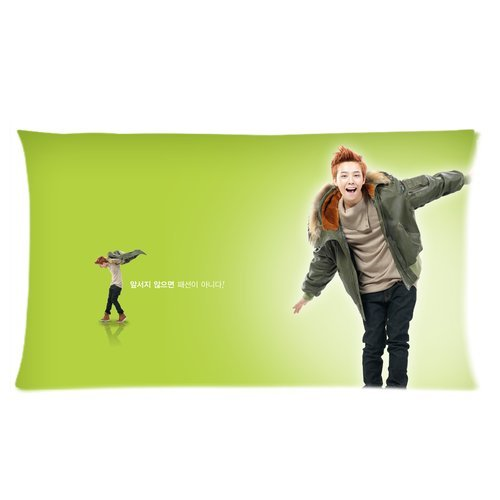 Printed Korea Hot Singer Fashion Icon G-Dragon Cool Picture Personalized Pillowcase Hotsale Pillow Case For Children 20X36 Two Sides-5 front-1053714