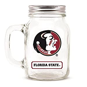 Florida State Seminoles Ncaa Mason Jar Glass With Lid from DUCK HOUSE