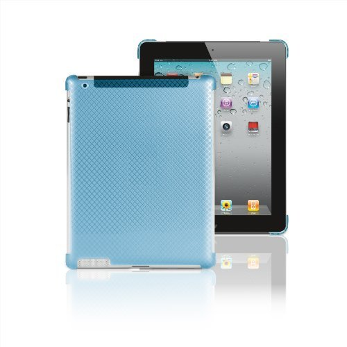 Merkury Innovations Smart Snap Hardshell Case for iPad 2 - works with smart cover (M-IP2C890) - Blue