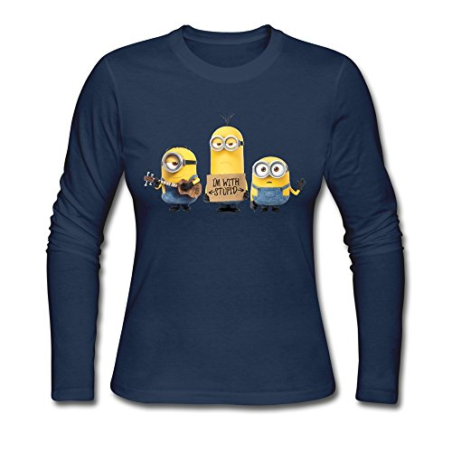 GLYCWH Women's Minion T-Shirt O Neck