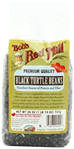 Bob's Red Mill Beans Black Turtle, 26-Ounce (Pack of 4)