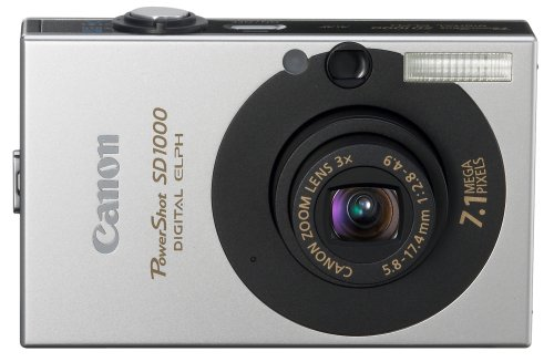 Canon PowerShot SD1000 7.1MP Digital Elph Camera with 3x Optical Zoom (Black)