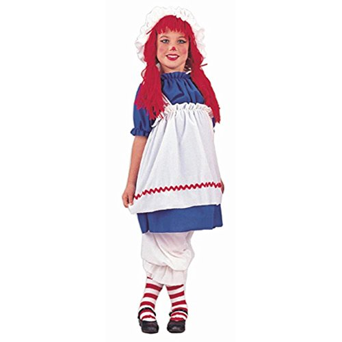 Child's Girl's Rag Doll Halloween Costume (Size:Small 6-8)