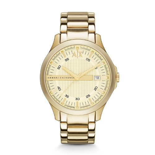 Armani Exchange Smart Champagne Dial Gold-plated Mens Watch AX2131